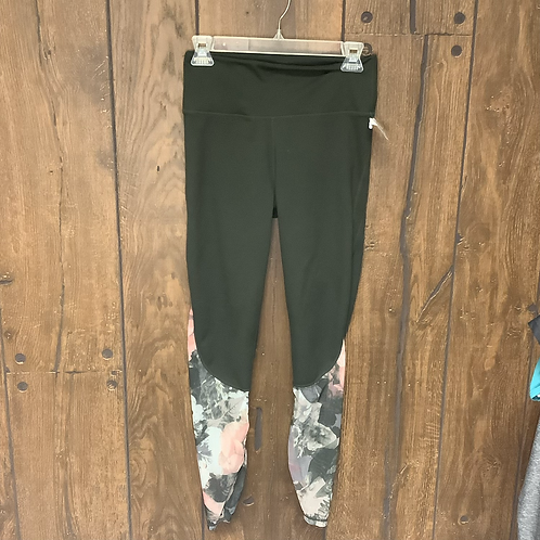 Fabletics green and flower leggings size XS