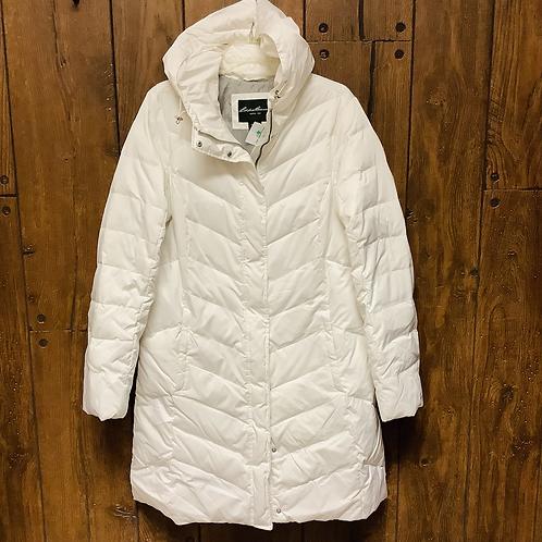 Large tall Eddie Bauer long puffer jacket/coat