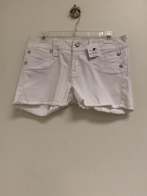 Rock revival white jeans shorts size 10