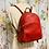 Thumbnail: NWT Michael Kors red backpack