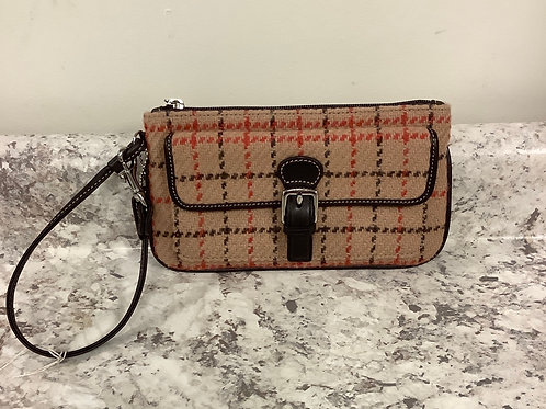 New Coach tweed wristlet