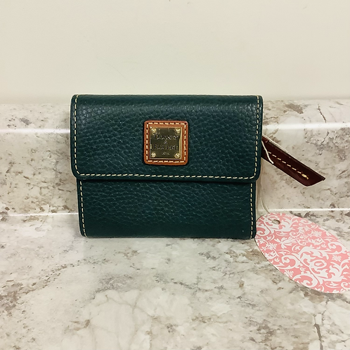 Dooney and Bourke small fold over wallet green