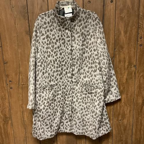 XXL old navy gray cheetah coat