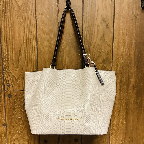Dooney and Bourke new with tags large shoulder bag ivory