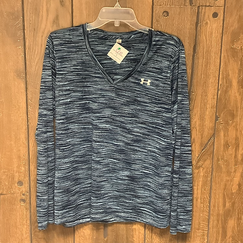 Under Armour blue striped long sleeve size L/XL