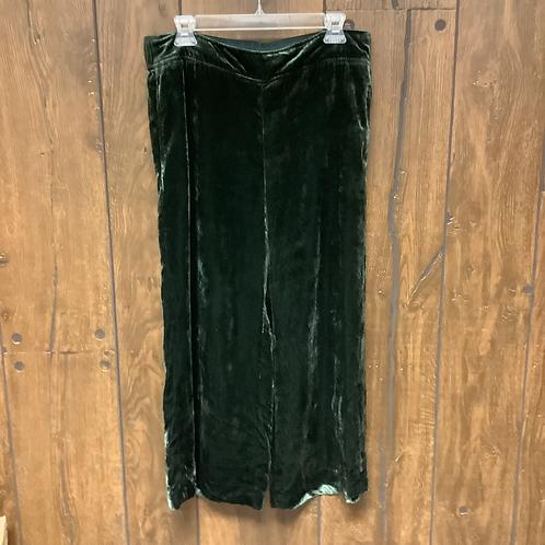 Medium Madewell green velvet Palazzo pants