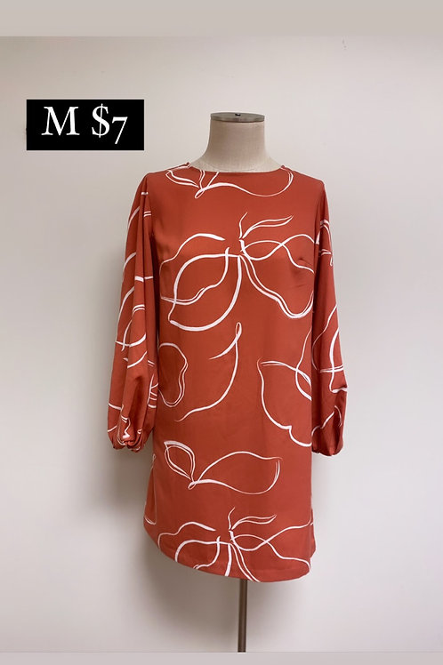 Size M Coral/Orange Dress a new day