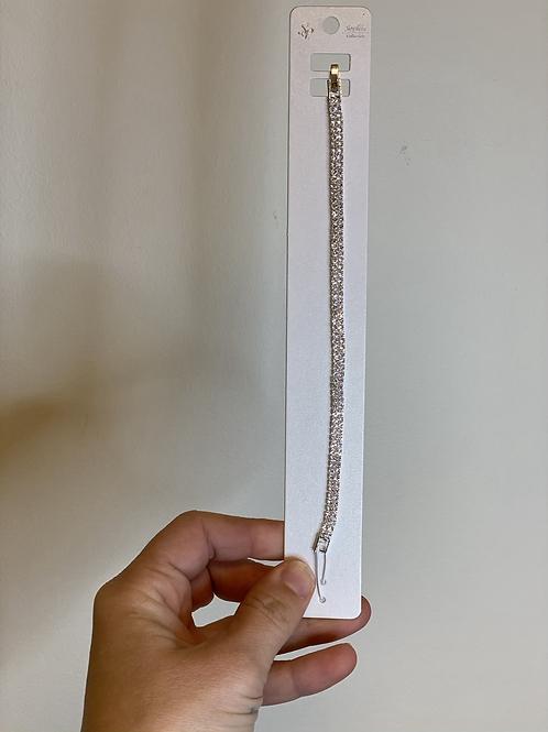 Rose Gold Rhinestone Bracelet