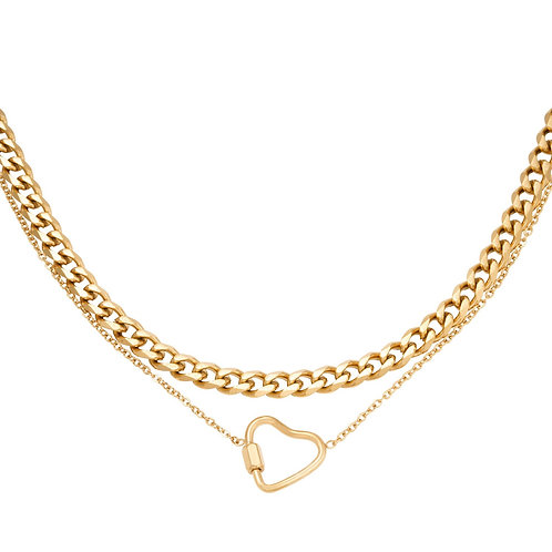 Ketting chained heart