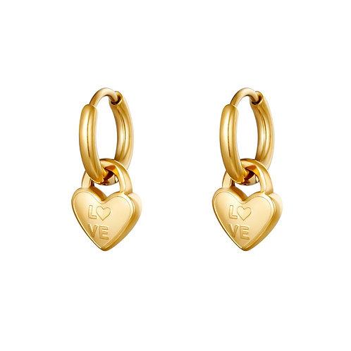 Oorbellen locked in love