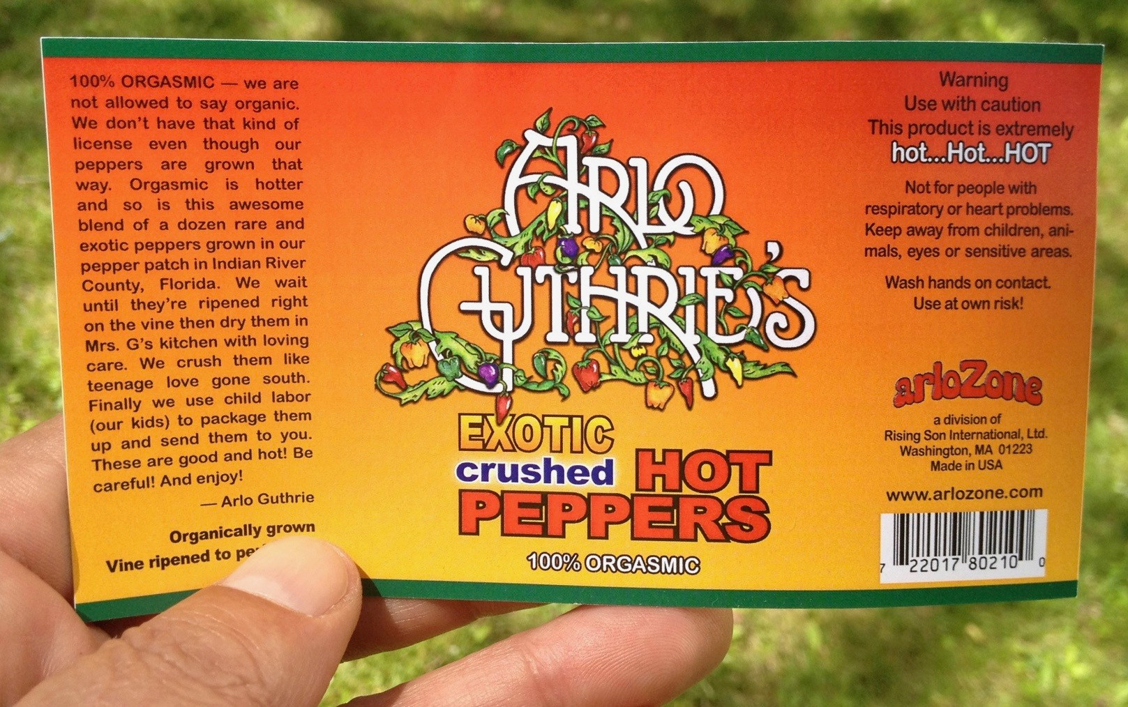 Pepper Label design