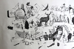 Tehran (Detail). Pen on Paper. 2014