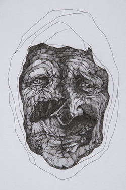 Untitled, 2013, pen and ink on paper