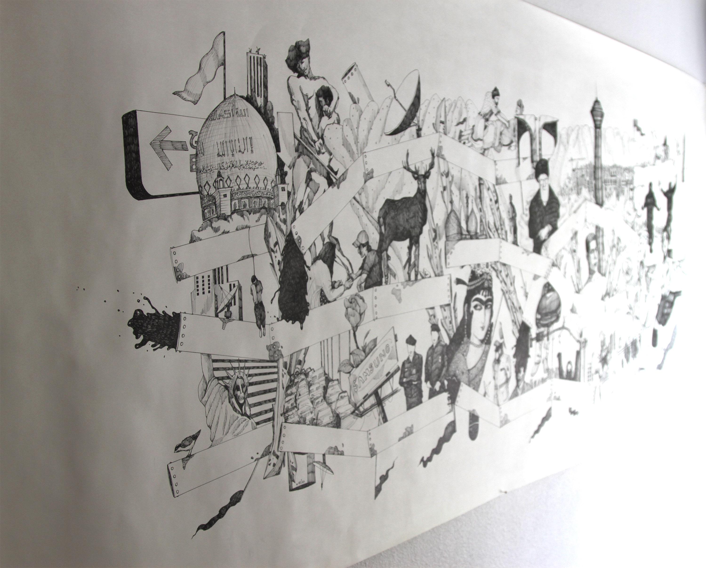 Tehran. Pen on Paper. 2014