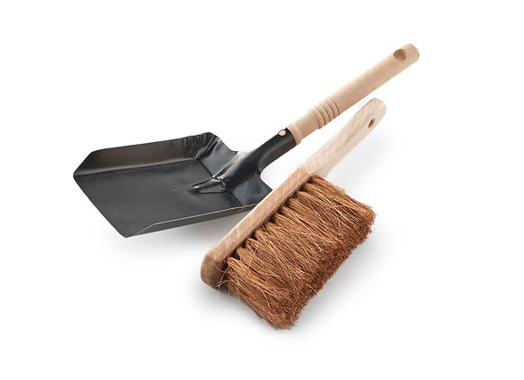 Vintage Style Dustpan and Brush