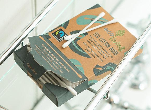Organic Fairtrade Cotton Buds (100pk)