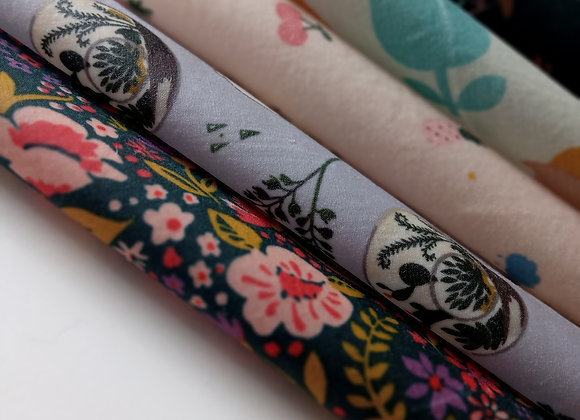 Organic Cotton Wax Wraps - Starter Pack of 5