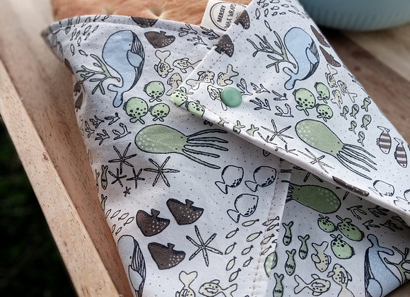 Adult Size - Organic Cotton Washable Sandwich Wraps (with food safe liner)