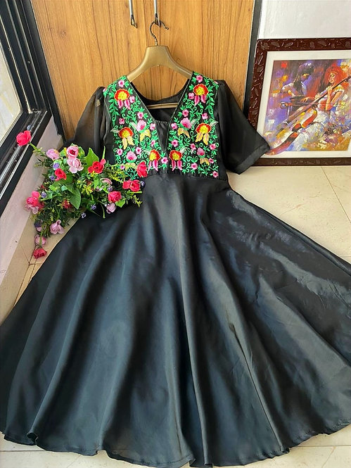 NEW DESIGNER EMBROIDERED GOWN