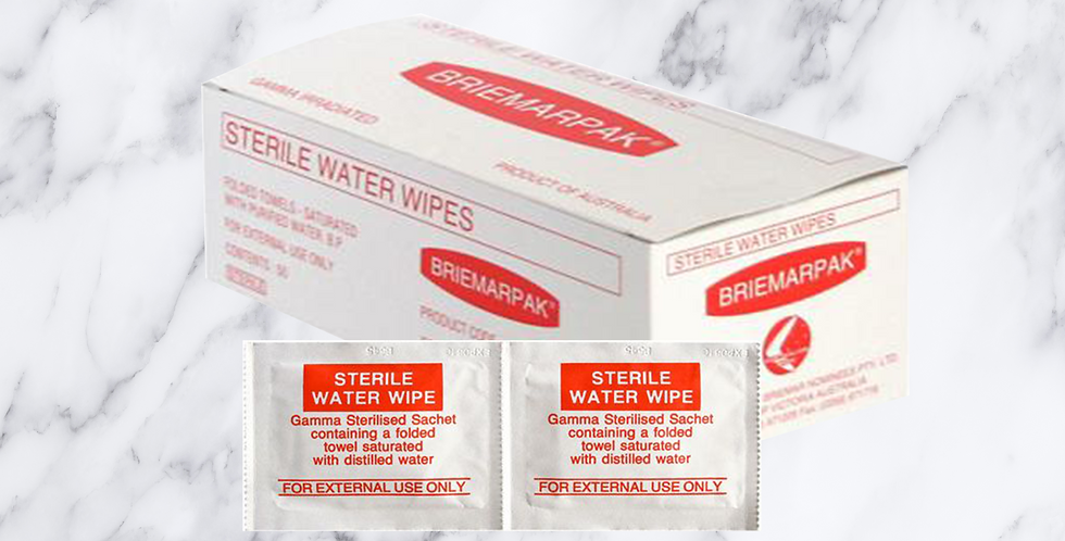 Sterile Water Wipes