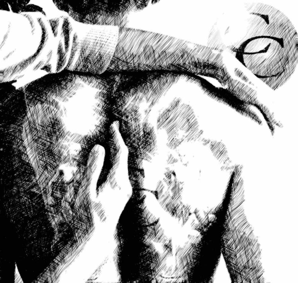 Corbin chiropractic artwork black and white