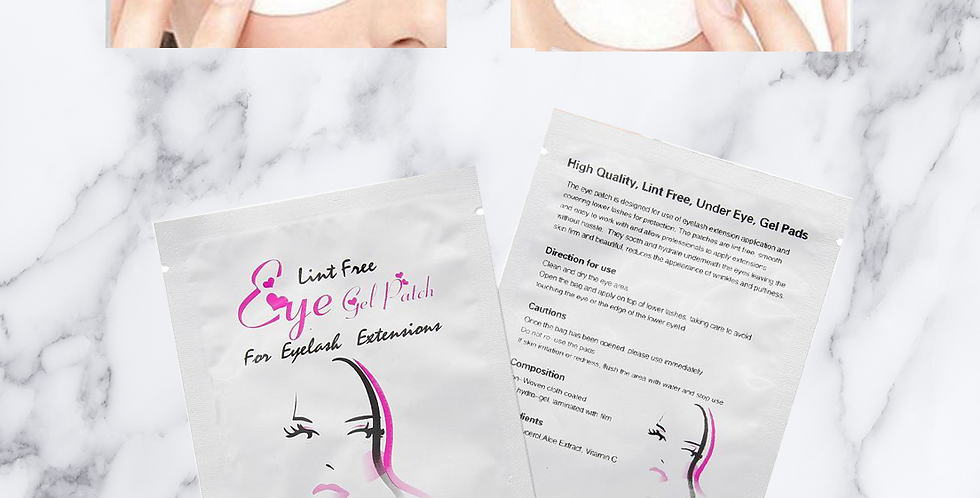 Gel patch for eyelash extensions 50 packet