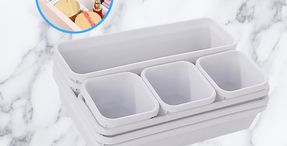 White Draw Storage Containers