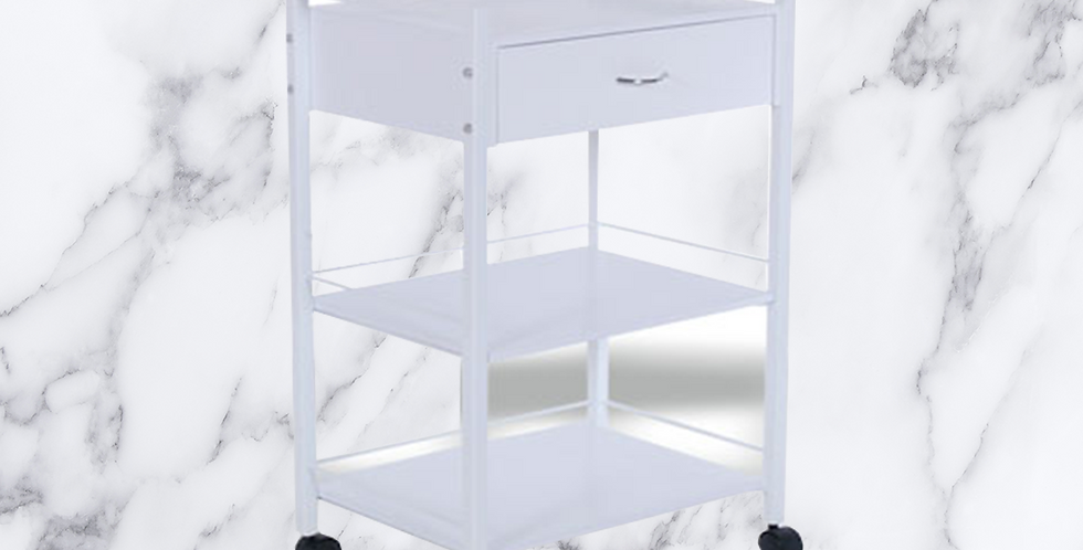 1 Drawer 2 Table Trolley TRO6 (PLEASE READ SHIPPING INFO BEFORE PURCHASING)
