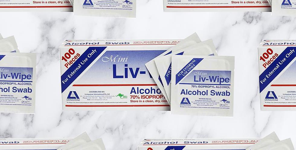 Mini Alcohol Swabs 100 pack