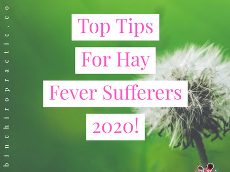 Top Tips For Hay Fever Sufferers 2020!