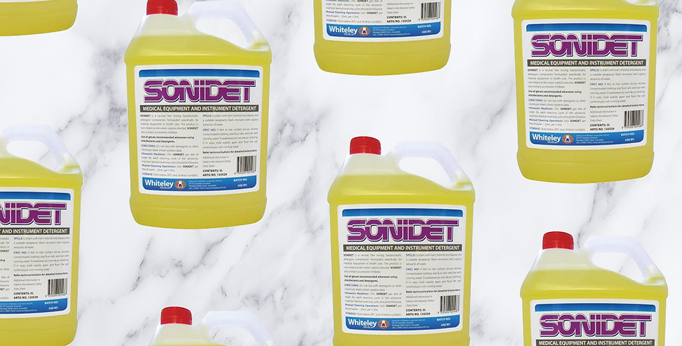 Sonidet Medical Equipment Detergent 5L. Pick up in store only. Please contact us