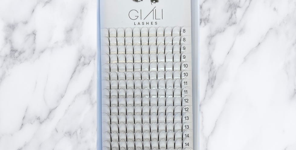 Giáli Lashes 5D Long Stem Premade Volume Fans Lash Tray
