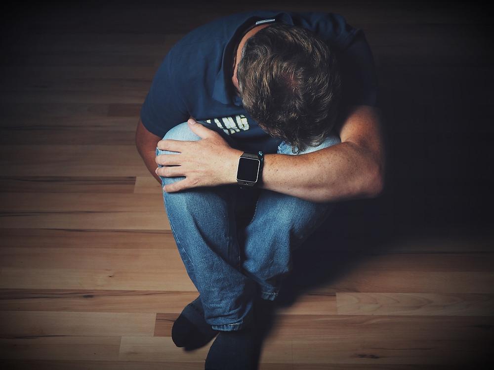 Man looking depressed