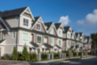 A row of a new townhouses in Richmond, B