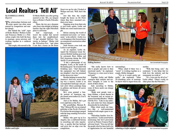 "Palisadian Post article, Local Realtors ""Tell All"""