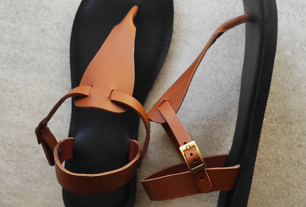 Miha sandals (Brown on black)