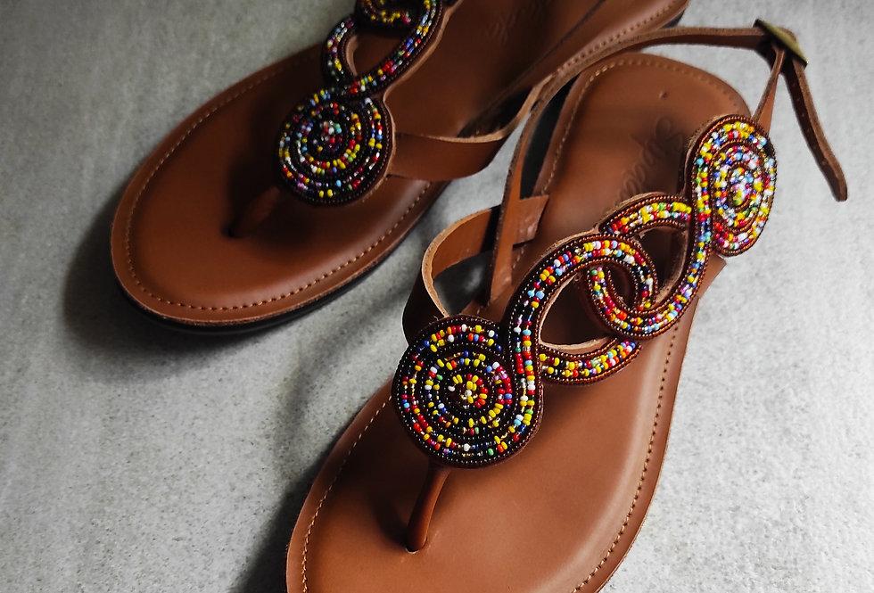 Alexandria sandals (flats)
