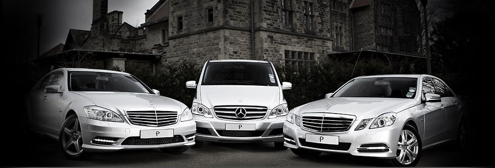 Three Mercedes vehicles from our fleet