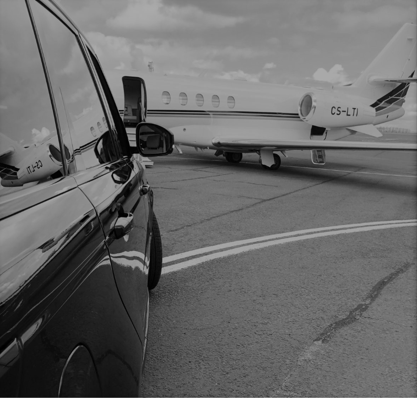 Range Rover and private jet.