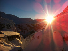Flexengalerie on your way to Lech Zürs skischool Tannberg Lech - Exclusive Mountain Guiding Arlberg