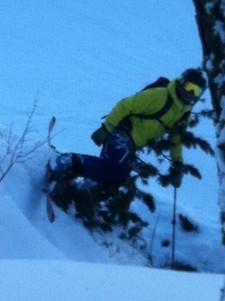 ski-emg-Ouch... Skiing tree runs
