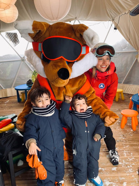 Happy kids with Foxy