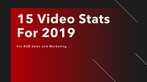 15 Sales and Marketing Video Statistics for 2019