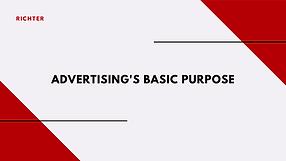 Advertising's Basic Purpose