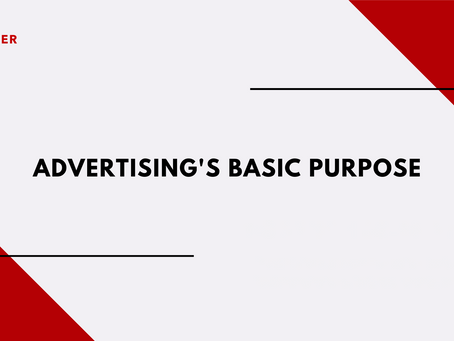 Advertising's Basic Purpose