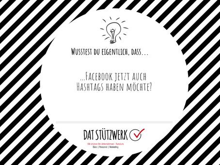 Änderung: Facebook möchte Hashtags!