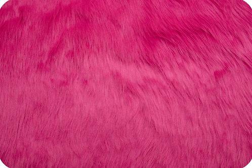 Luxury shag fur hot pink