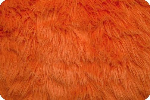 Luxury shag fur orange