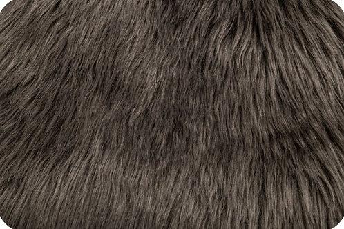 Luxury shag fur pewter