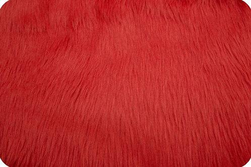 Luxury shag fur Fire red